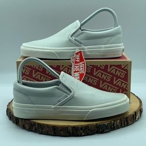 Vans Classic SlipOn Embossed Leather Glacier/White